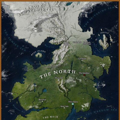 Картограф-энтузиаст создал карту Вестероса в высоком разрешении, и она выглядит так, будто это Google Maps (7 фото)