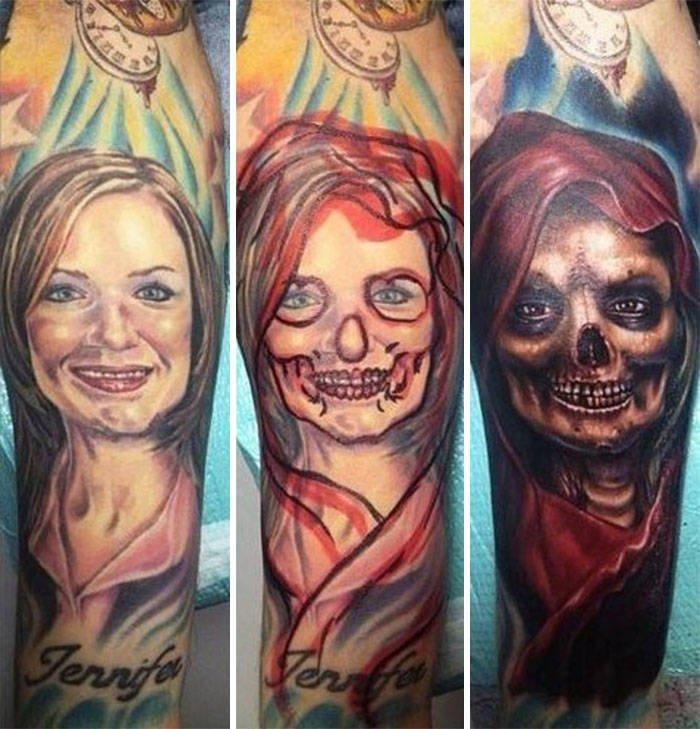 26 человек, которые с помощью кавер-ап татуировок навсегда распрощалис