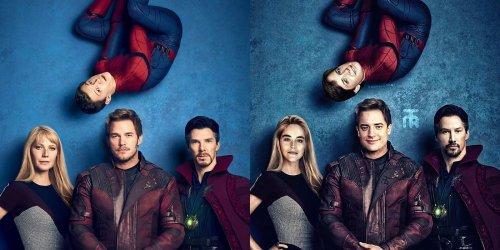 """Как бы выглядели персонажи """"Мстителей"""", если бы их снимали в 1990-х (8 фото)"""
