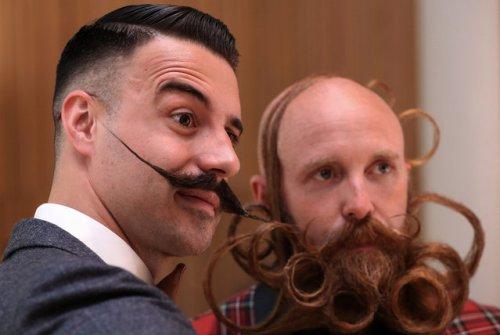 Международный конкурс среди бород и усов в Антверпене (15 фото)
