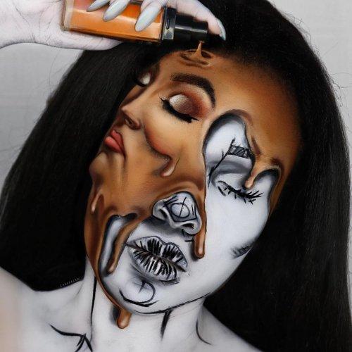 Глазам не верится: визажистка превращает своё лицо в невероятные иллюзии (12 фото)