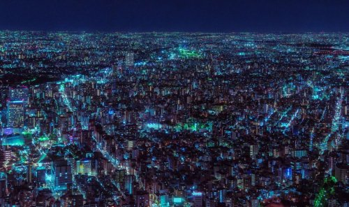 Бескрайний Токио в фотографиях Давиде Сассо (12 фото)