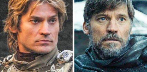 """Как выглядели персонажи """"Игры престолов"""" в первом и последнем сезонах (15 фото)"""
