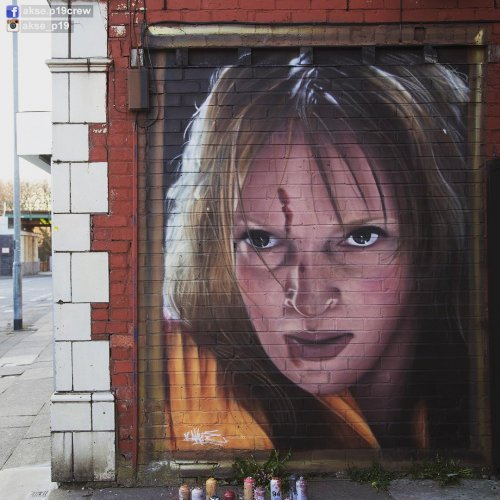 Знаменитые иконы поп-культуры на настенных рисунках уличного художника Akse (13 фото)