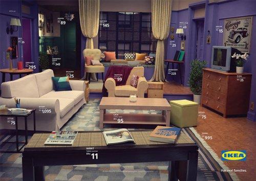 Компания IKEA с помощью своей мебели воссоздала знаменитые гостиные из популярных сериалов (9 фото)