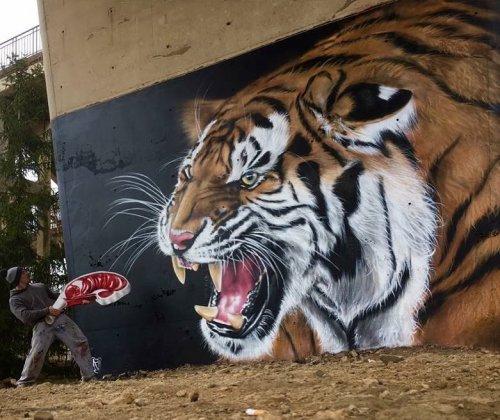 Потрясающие трёхмерные работы уличного художника Scaf (25 фото)