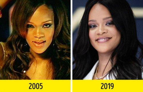 Известные певцы и певицы в своих дебютных видеоклипах и сейчас (15 фото)