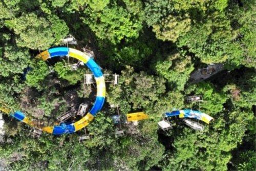В малайзийских джунглях строят водную горку длиной более километра, которая станет самой длинной в мире (фото + 2 видео)
