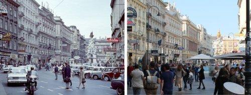 Венский фотограф прогулялся по родному городу и сделал новые версии исторических фотографий (10 фото)