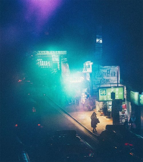 Ночной Гонконг в фотографиях Йоханнеса Хойкерота (15 фото)