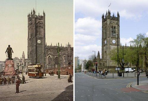 Фотографии, сделанные в Англии в одних и тех же местах с разницей в 125 лет (7 фото)