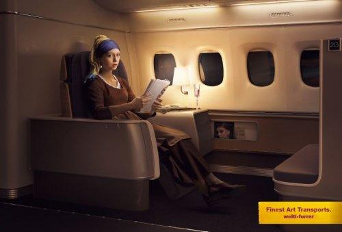 Швейцарское рекламное агентство создаёт рекламу для своих клиентов, используя культовые фигуры из прошлого (10 фото)