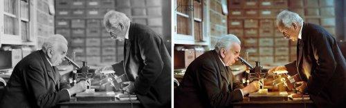 Румынский архитектор и 3D-художник в свободное время колоризирует старые фотографии (14 фото)