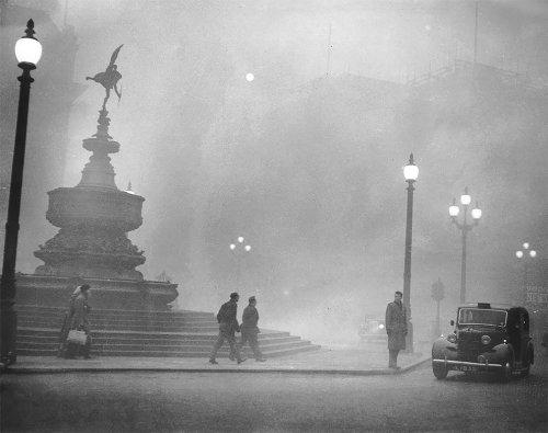 Великий смог в Лондоне в начале XX-века (18 фото)