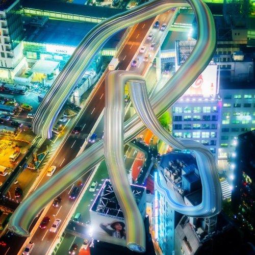 «Искажённая Япония»: буддизм и компьютерные игры в цифровых фотоманипуляциях Кенты Кобаяси (23 фото)