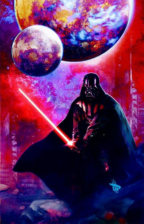 """Потрясающий фан-арт, посвящённый """"Звёздным войнам"""", от официального художника Lucasfilm и Disney Цунео Санды (13 фото)"""