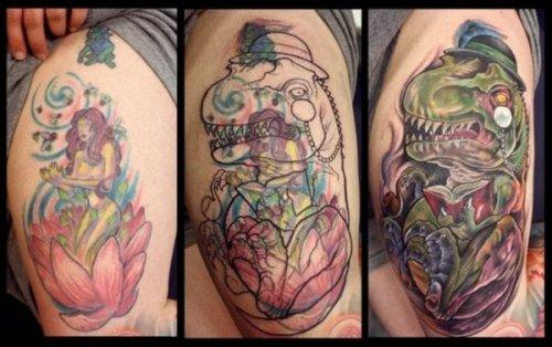 Крутые кавер-ап татуировки (30 фото)