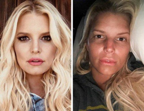 Знаменитости без макияжа (18 фото)