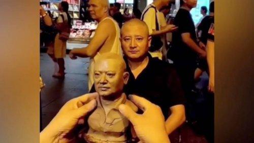 Китайский художник создает безумно реалистичные глиняные бюсты прохожих (фото + видео)