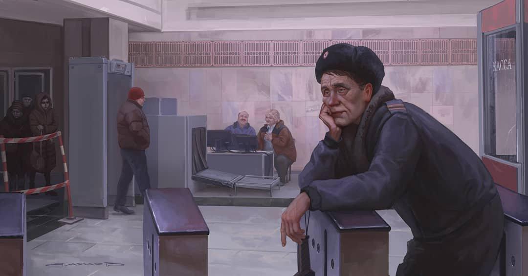 Художник из Екатеринбурга с иронией изображает повседневную жизнь в Ро