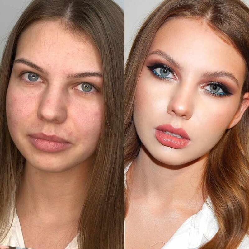 как на фото изменить лицо человека стесняется своих белёсых