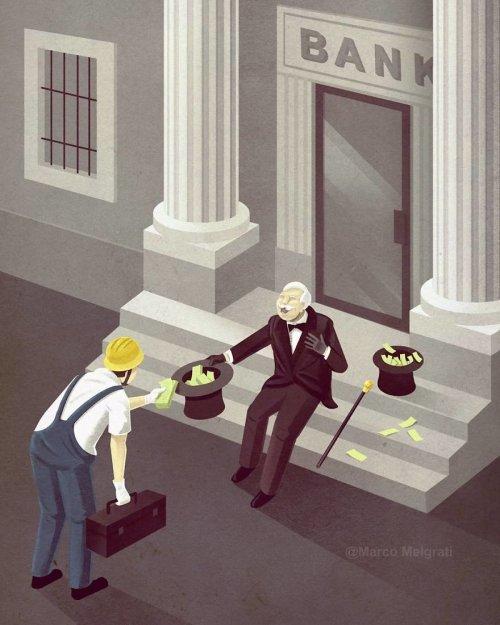 Печальная правда о современной жизни в иллюстрациях Марко Мелграти (23 фото)