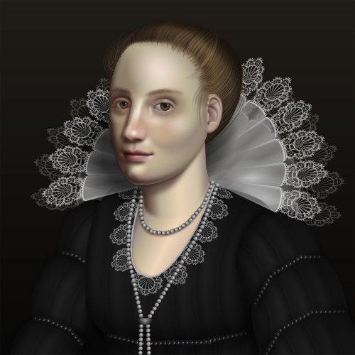 UI-инженер создаёт портреты в стиле барокко с помощью HTML и CSS (4 фото)