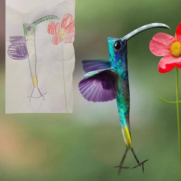 Отец-художник визуализирует рисунки своих детей (22 фото)