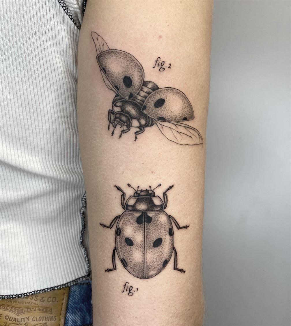 Монохромные татуировки от Микеле Вольпи, похожие на иллюстрации из ста