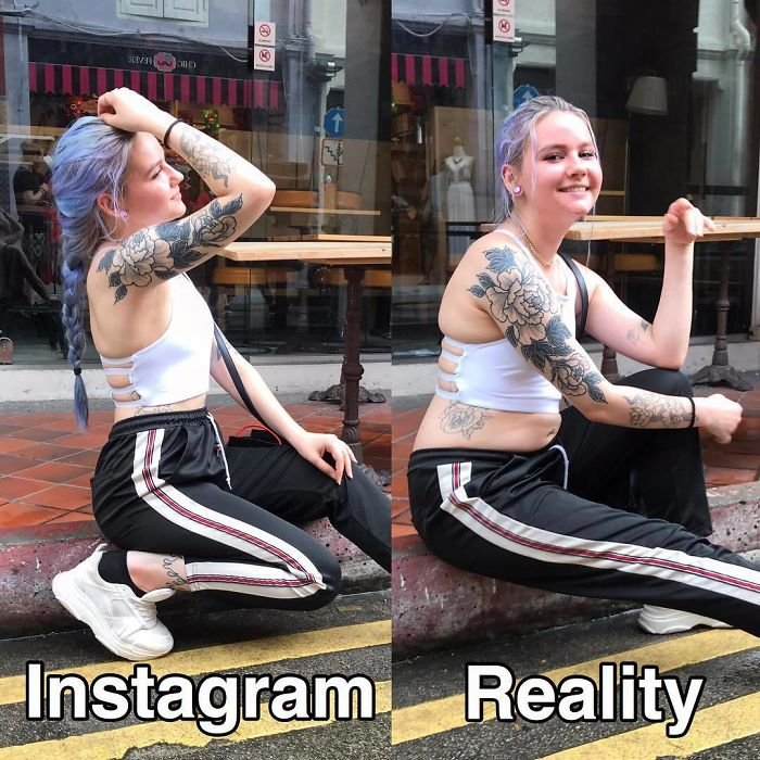 ЗОЖ-блогерша раскрывает реальность инстаграмных фотографий (30 фото)