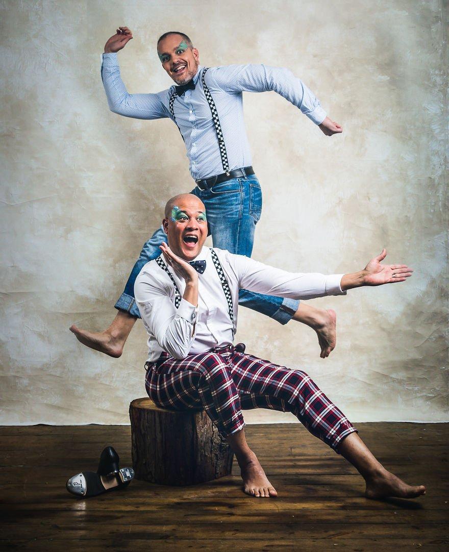Благотворительный календарь 'Танцующие папы' (12 фото)