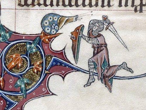 Странные средневековые сцены битвы между людьми ...и улитками (21 фото)