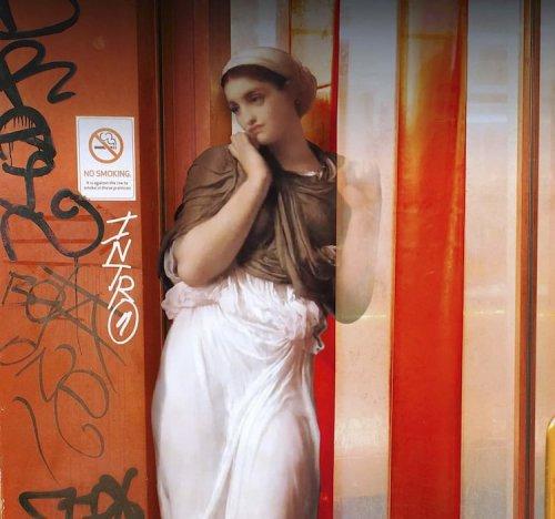 Если бы герои классических картин бродили по улицам современных городов (19 фото)