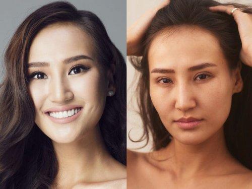 """Участницы конкурса """"Мисс Вселенная"""" с макияжем и без него (13 фото)"""