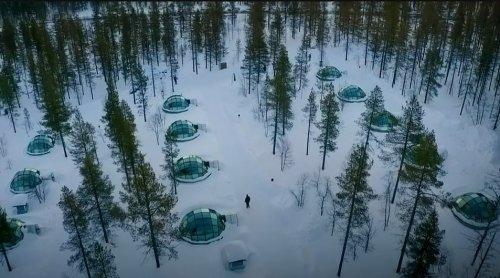 Стеклянные иглу в Финляндии (7 фото)