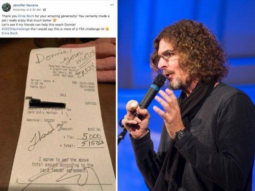 Участвуя в челлендже, посвященном чаевым, миллионер из Бостона оставил официантке чаевые в размере 5000 долларов за 157-долларовый счет (2 фото)