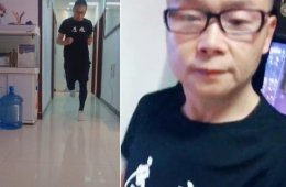 Из-за карантина марафонец из Китая пробежал 50 км по своей квартире (2 фото + видео)