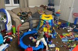 Игровая комната детей Ким Кардашян разительно отличается от большинства (10 фото)