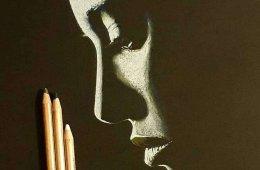 Художник пишет женские портреты, мастерски используя свет и тень (9 фото)