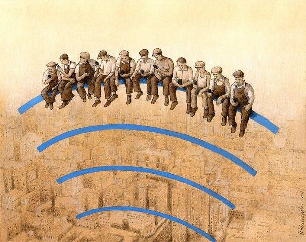Новые сатирические и остросоциальные иллюстрации Павла Кучинского, заставляющие задуматься о современном мире (21 фото)