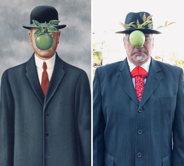 Новые версии знаменитых произведений искусства, воссозданных Интернет-пользователями, сидящими на карантине