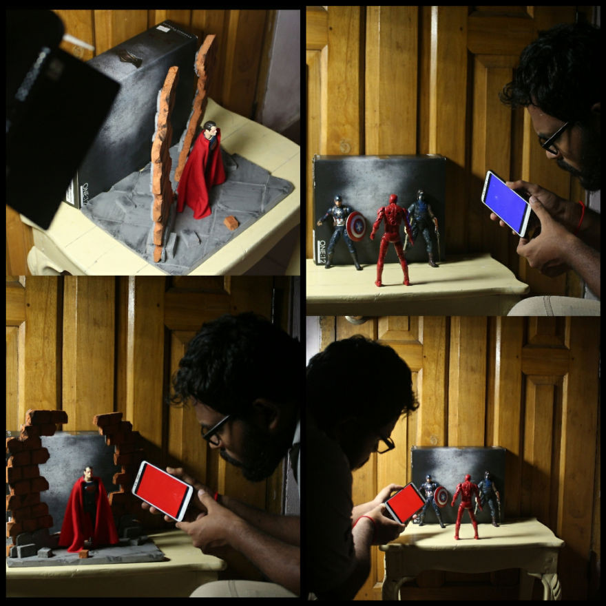 Фотограф показал, как с помощью света и игровых фигурок создаёт эпичны