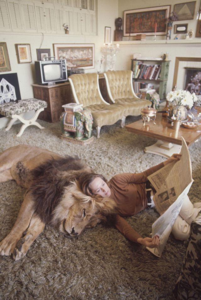 Нил, домашний лев Типпи Хедрен и Мелани Гриффит