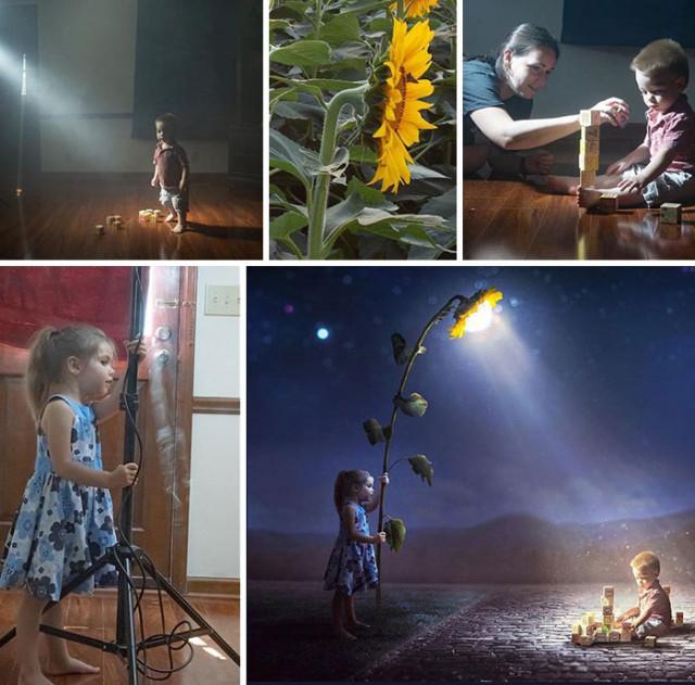 Фотограф показывает, как обычные фотографии превращает в волшебные фотоманипуляции