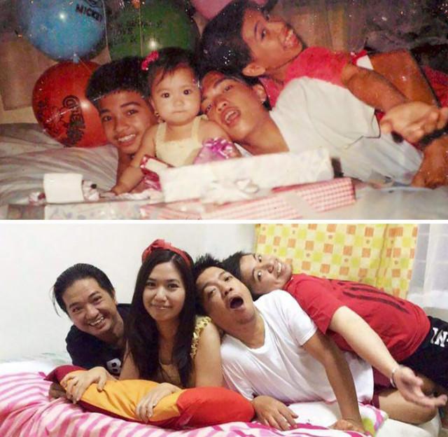Старые семейные фотографии по-новому. ФОТО