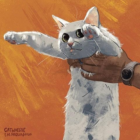 Мемные котики от Catwheezie (22 фото)