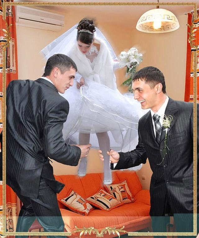 Сумасшедший свадебный фотошоп. ФОТО
