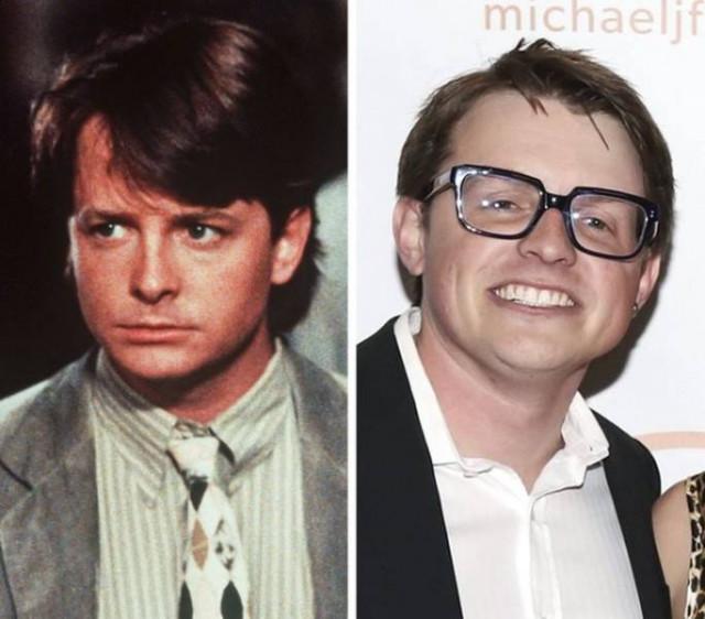 Голливудские знаменитости и их дети в одинаковом возрасте