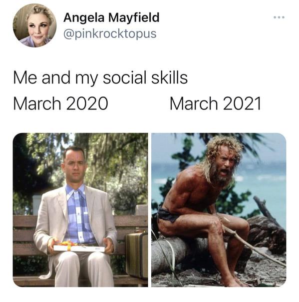 Интернет-пользователи делятся мемами «март 2020 vs. март 2021», показывая, что изменилось за год