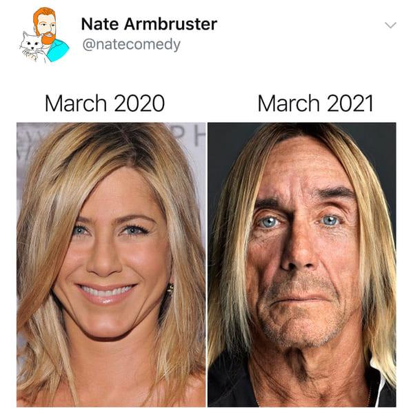 """Интернет-пользователи делятся мемами """"март 2020 vs. март 2021"""", показывая, что изменилось за год (13 фото)"""